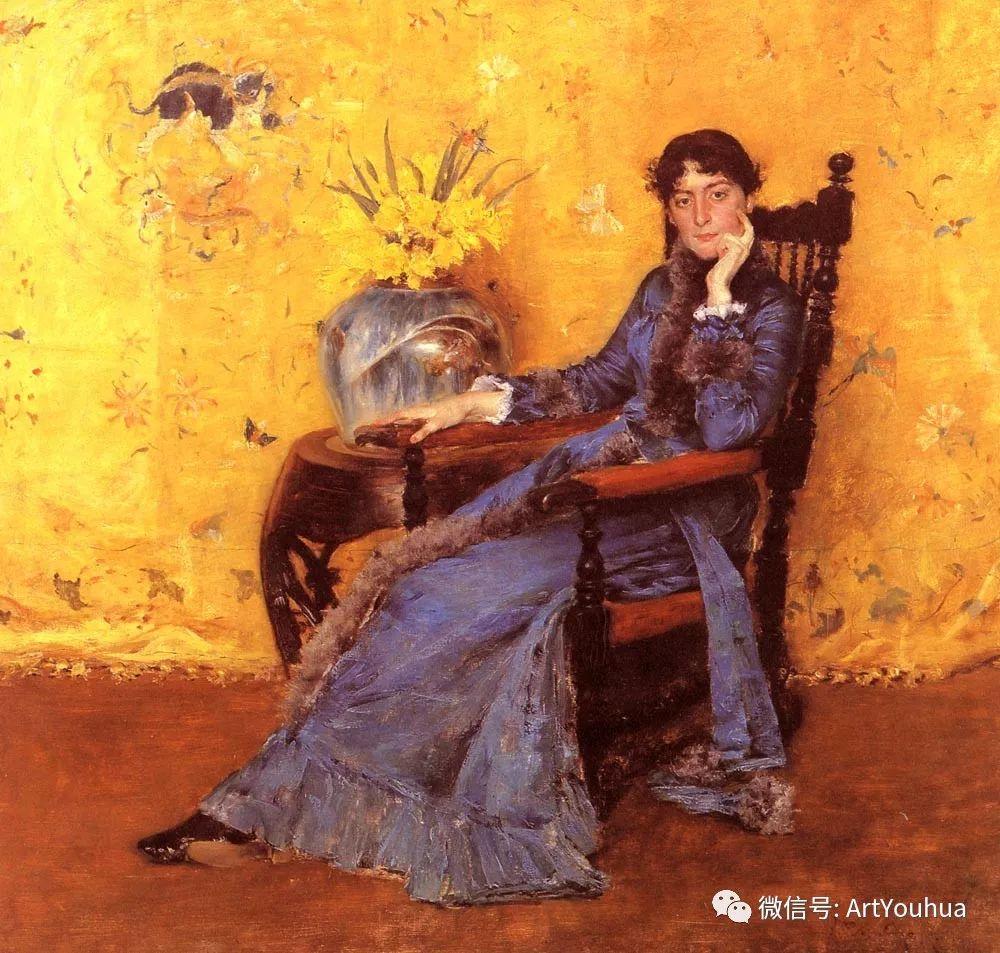 人物风景 美国画家William Merritt Chase作品欣赏插图57