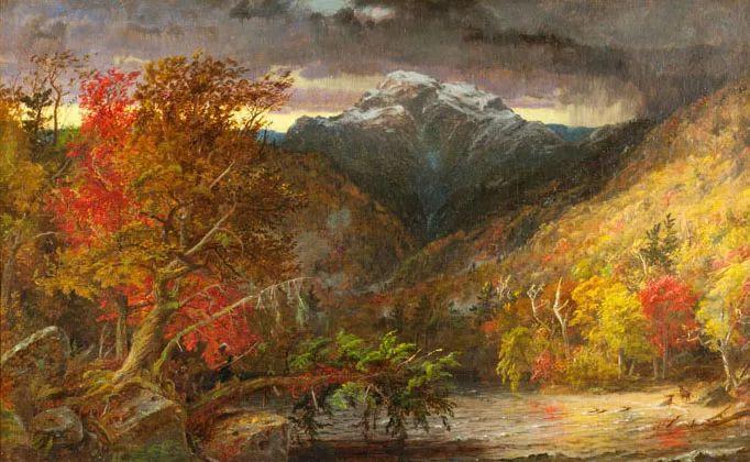 哈德森画派 美国画家Jasper francis cropsey作品一插图1