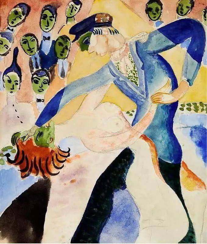 瑞典犹太表现主义画家Isaac Grünewald插图5