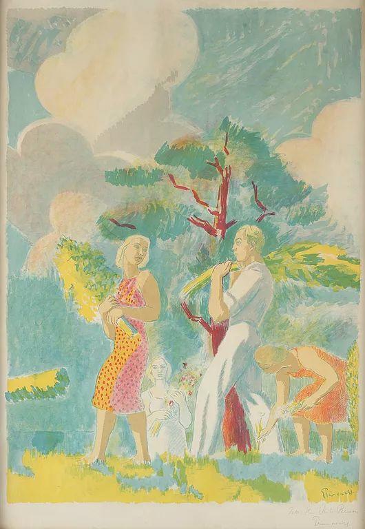 瑞典犹太表现主义画家Isaac Grünewald插图19