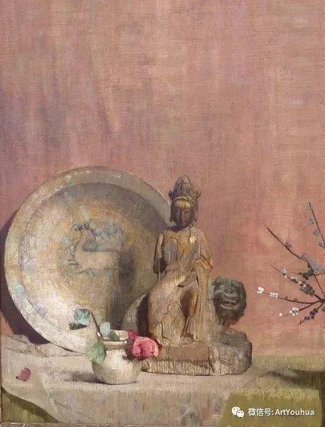 静物画里的中国元素 美国Hovsep Pushman作品插图3