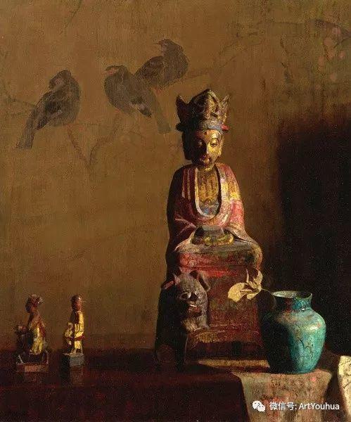 静物画里的中国元素 美国Hovsep Pushman作品插图25