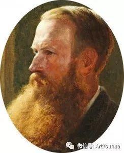 牛羊风景油画欣赏 英国画家Henry William Banks Davis插图1