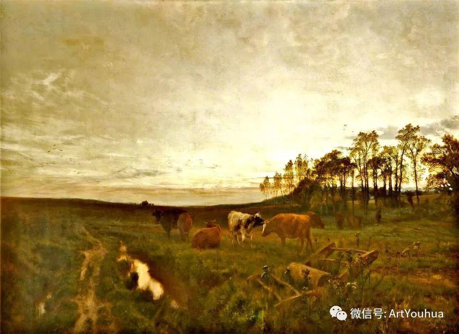 牛羊风景油画欣赏 英国画家Henry William Banks Davis插图27