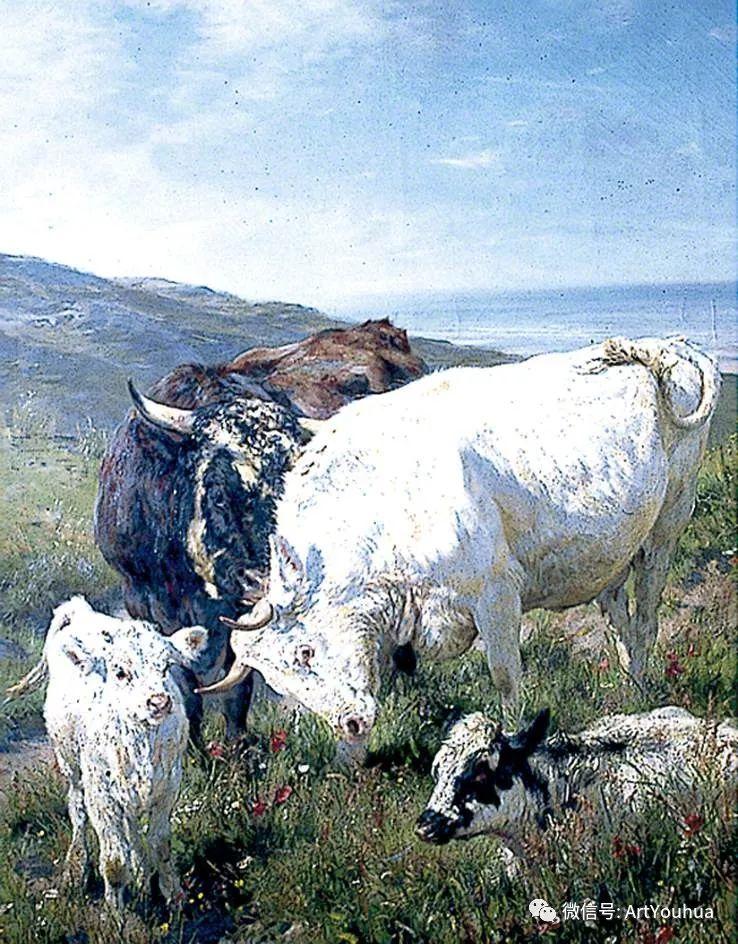 牛羊风景油画欣赏 英国画家Henry William Banks Davis插图45