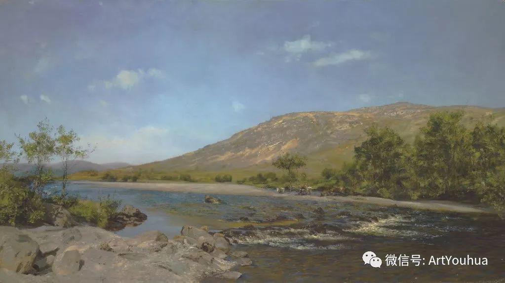 牛羊风景油画欣赏 英国画家Henry William Banks Davis插图47