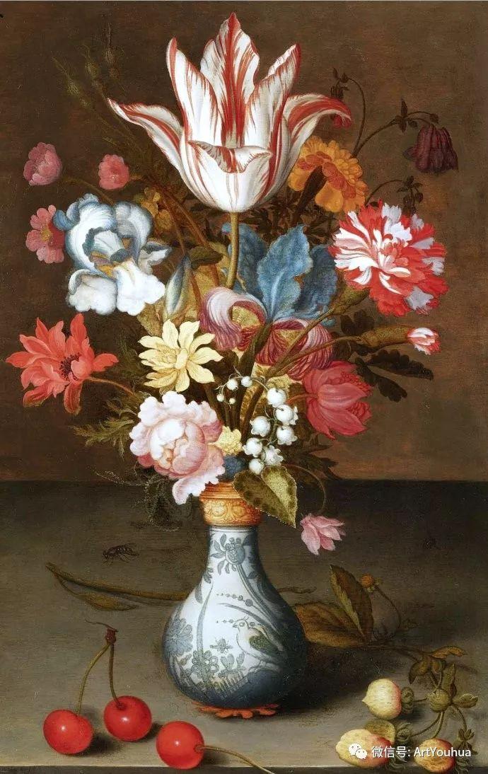 静物花卉油画欣赏 荷兰画家Balthasar van der Ast插图1