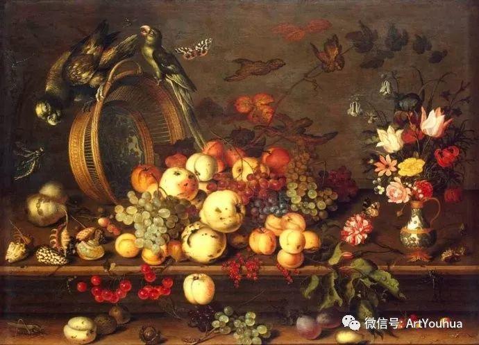 静物花卉油画欣赏 荷兰画家Balthasar van der Ast插图7