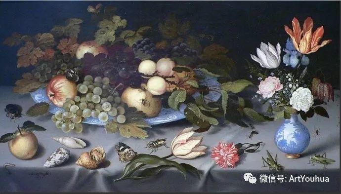 静物花卉油画欣赏 荷兰画家Balthasar van der Ast插图9