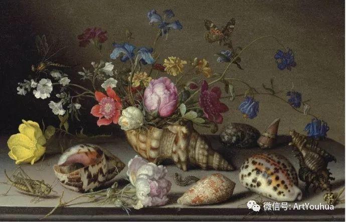 静物花卉油画欣赏 荷兰画家Balthasar van der Ast插图13