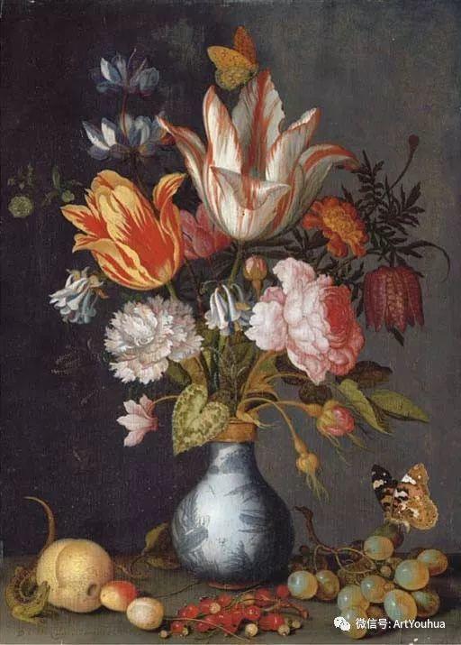 静物花卉油画欣赏 荷兰画家Balthasar van der Ast插图17