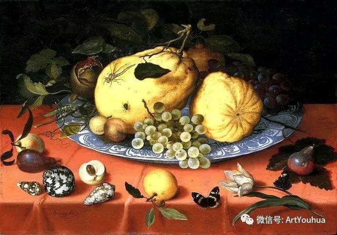 静物花卉油画欣赏 荷兰画家Balthasar van der Ast插图19