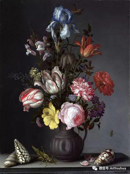 静物花卉油画欣赏 荷兰画家Balthasar van der Ast插图23
