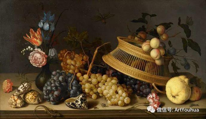 静物花卉油画欣赏 荷兰画家Balthasar van der Ast插图29