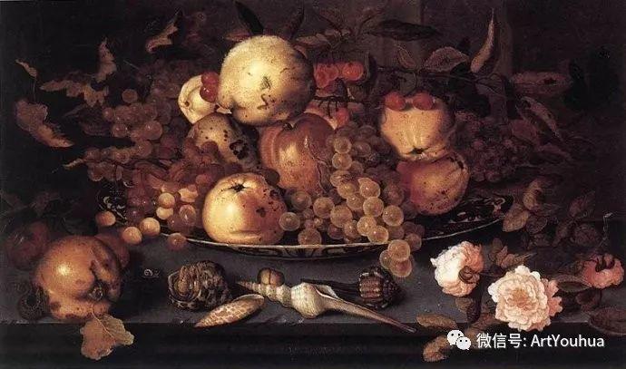 静物花卉油画欣赏 荷兰画家Balthasar van der Ast插图31