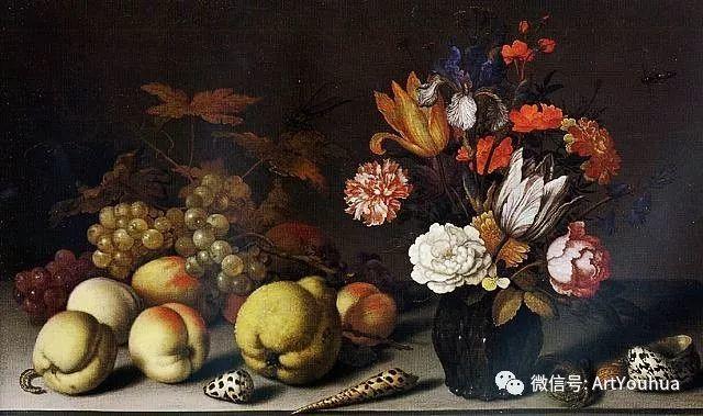 静物花卉油画欣赏 荷兰画家Balthasar van der Ast插图33