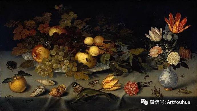 静物花卉油画欣赏 荷兰画家Balthasar van der Ast插图37