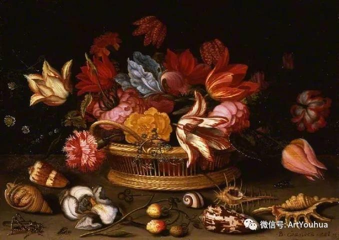 静物花卉油画欣赏 荷兰画家Balthasar van der Ast插图47