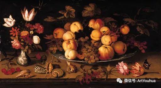静物花卉油画欣赏 荷兰画家Balthasar van der Ast插图51