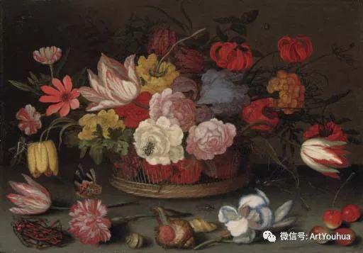 静物花卉油画欣赏 荷兰画家Balthasar van der Ast插图55