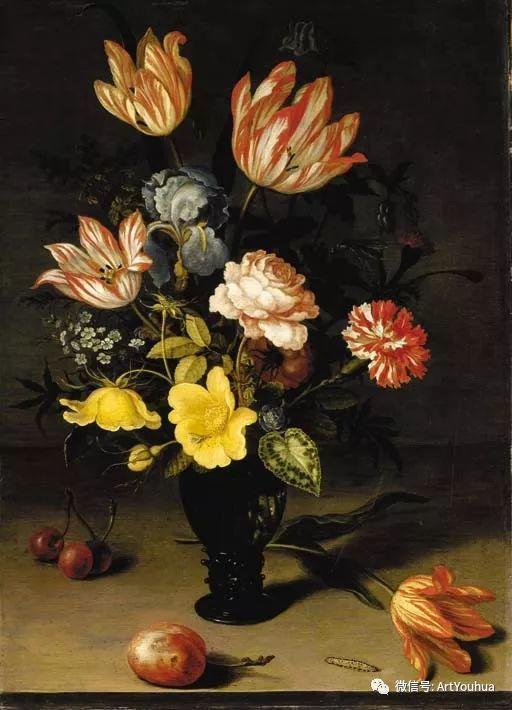 静物花卉油画欣赏 荷兰画家Balthasar van der Ast插图57