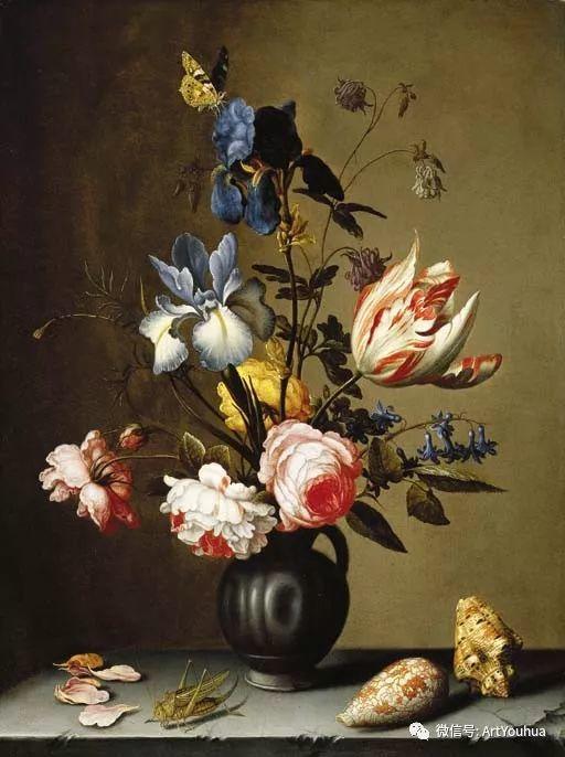 静物花卉油画欣赏 荷兰画家Balthasar van der Ast插图61