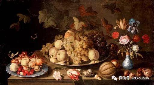 静物花卉油画欣赏 荷兰画家Balthasar van der Ast插图65