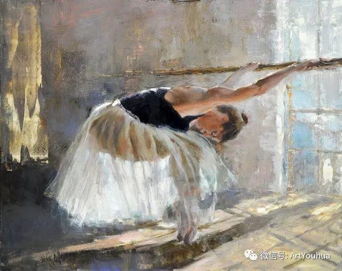 舞者油画欣赏  美国Eric Wallis作品插图1