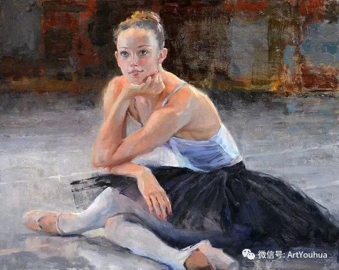 舞者油画欣赏  美国Eric Wallis作品插图3
