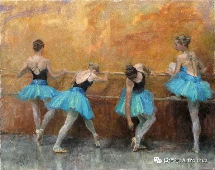 舞者油画欣赏  美国Eric Wallis作品插图7