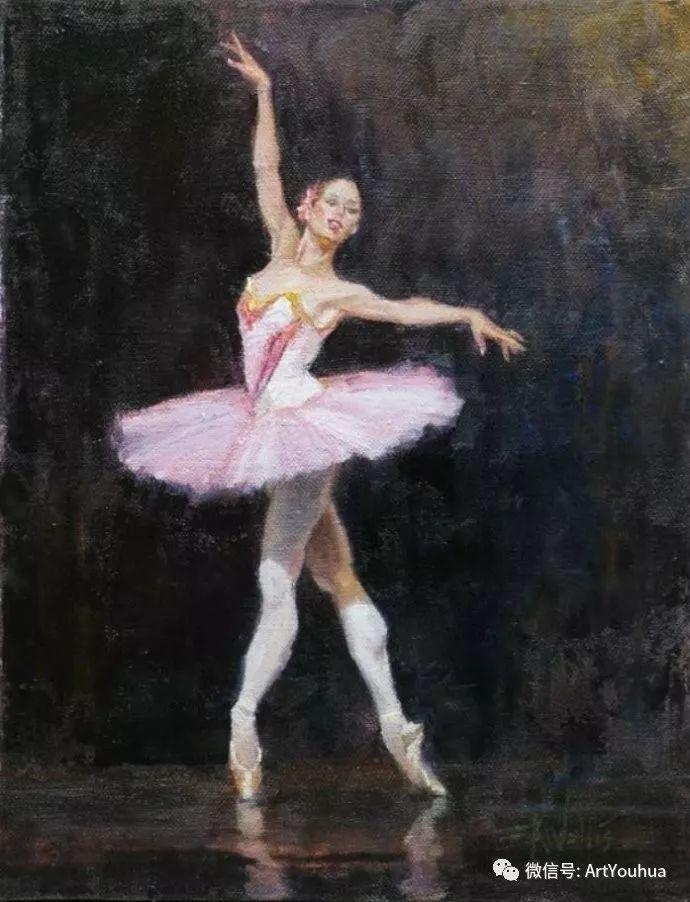 舞者油画欣赏  美国Eric Wallis作品插图21