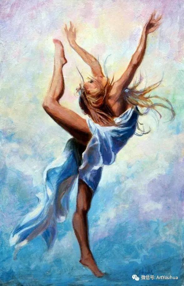 舞者油画欣赏  美国Eric Wallis作品插图23