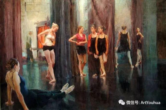 舞者油画欣赏  美国Eric Wallis作品插图25