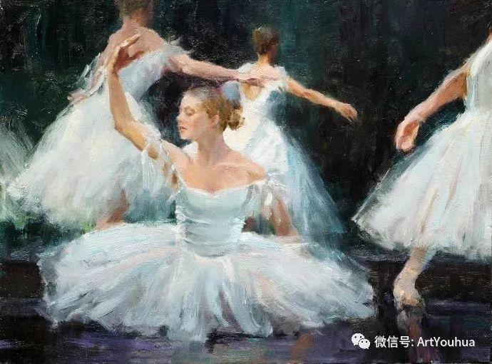 舞者油画欣赏  美国Eric Wallis作品插图29