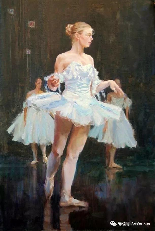 舞者油画欣赏  美国Eric Wallis作品插图31