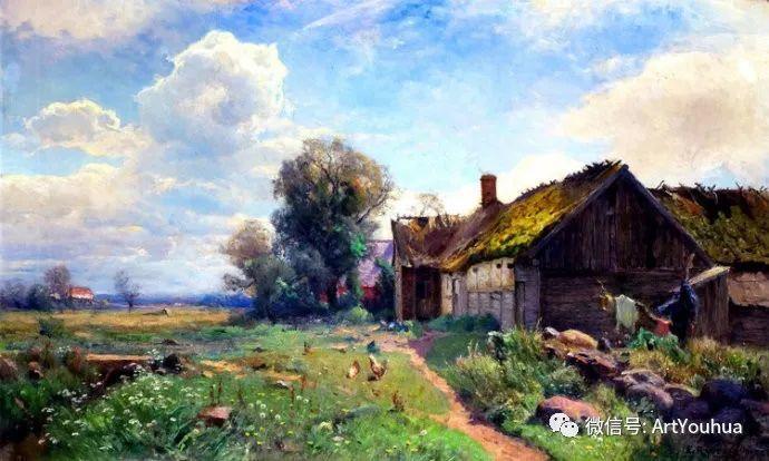 风景画欣赏  瑞典Gustaf Rydberg作品插图1