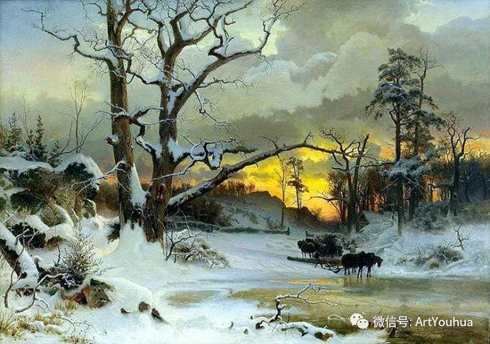 风景画欣赏  瑞典Gustaf Rydberg作品插图5