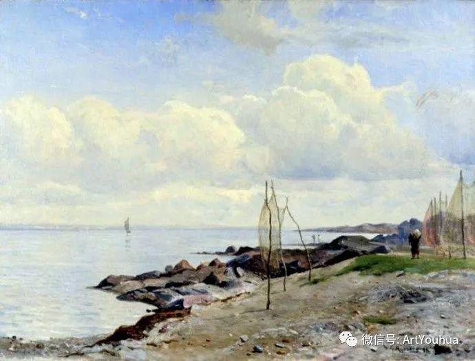 风景画欣赏  瑞典Gustaf Rydberg作品插图17