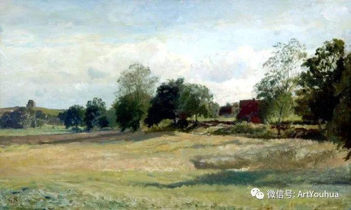 风景画欣赏  瑞典Gustaf Rydberg作品插图25