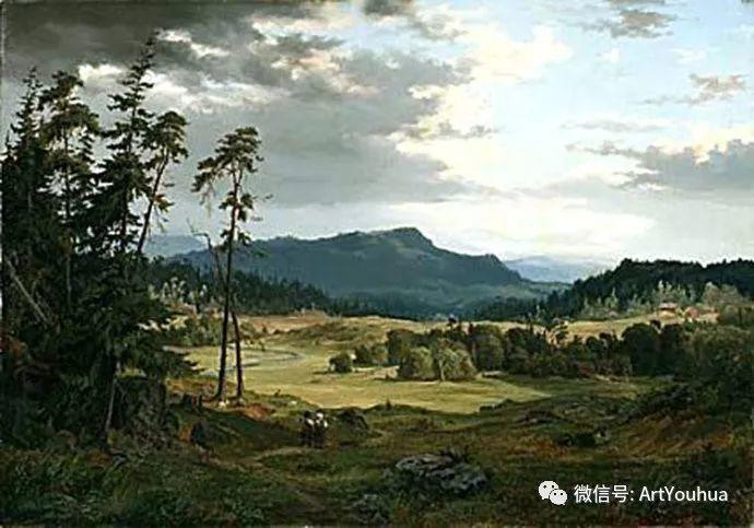 风景画欣赏  瑞典Gustaf Rydberg作品插图33