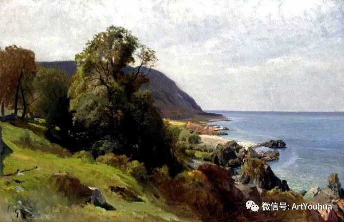 风景画欣赏  瑞典Gustaf Rydberg作品插图35