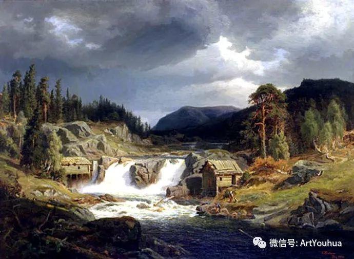 风景画欣赏  瑞典Gustaf Rydberg作品插图39