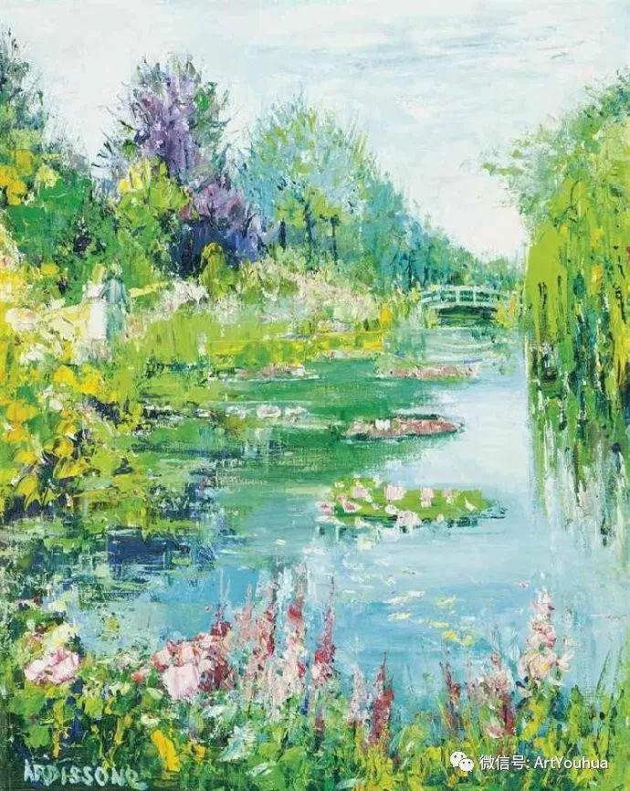 蓝色调风景油画  法国画家Yolande Ardissone插图1