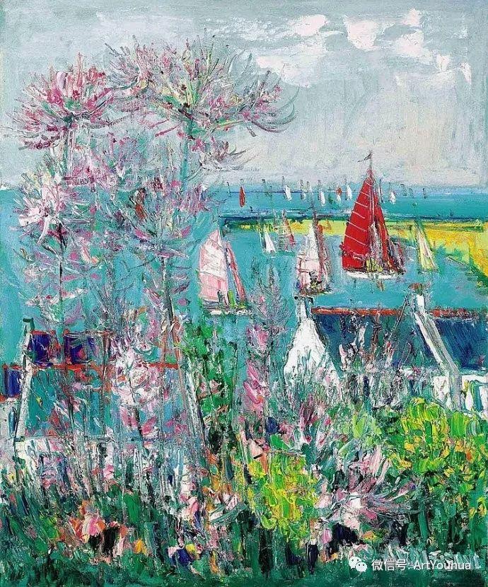 蓝色调风景油画  法国画家Yolande Ardissone插图3