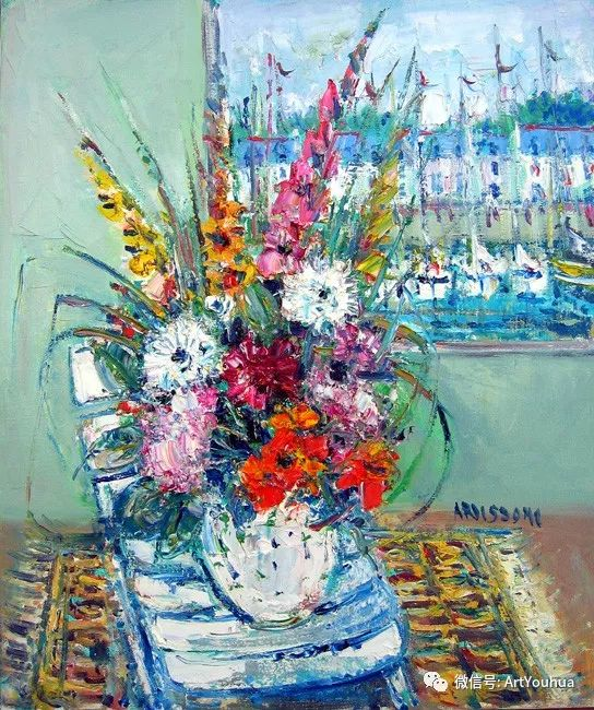 蓝色调风景油画  法国画家Yolande Ardissone插图5