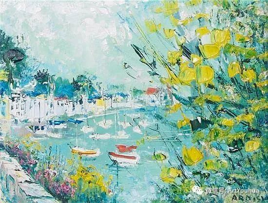 蓝色调风景油画  法国画家Yolande Ardissone插图9