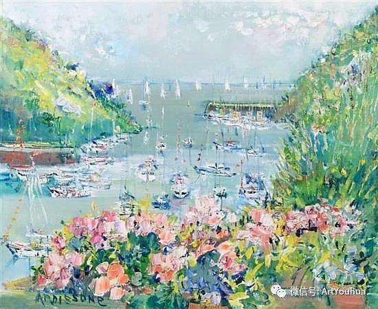 蓝色调风景油画  法国画家Yolande Ardissone插图11