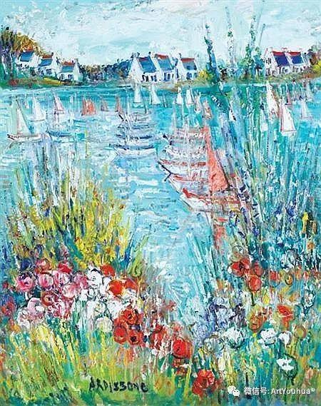 蓝色调风景油画  法国画家Yolande Ardissone插图13