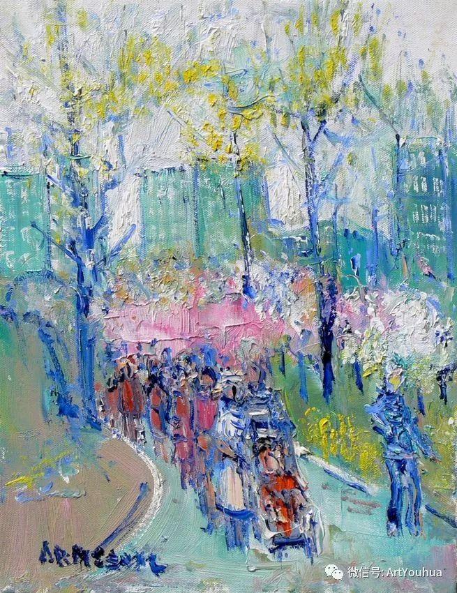 蓝色调风景油画  法国画家Yolande Ardissone插图15