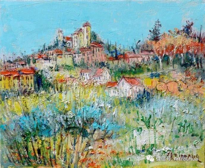 蓝色调风景油画  法国画家Yolande Ardissone插图17